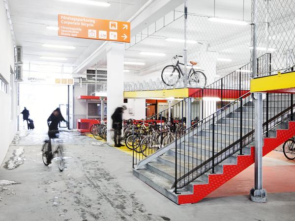 Cykelgaraget i Hyllie. Fotograf Felix Gerlach.