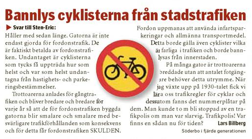 bannlys cyklister