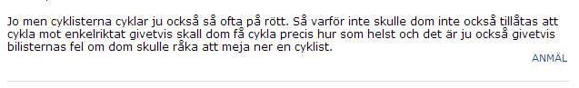 cyklist enkelriktat 2