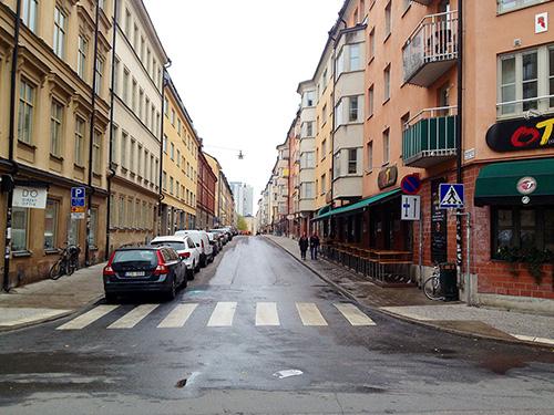 Repslagargatan från S:t Paulsgatan. Klicka för större bild. Foto: Jens Johansson.