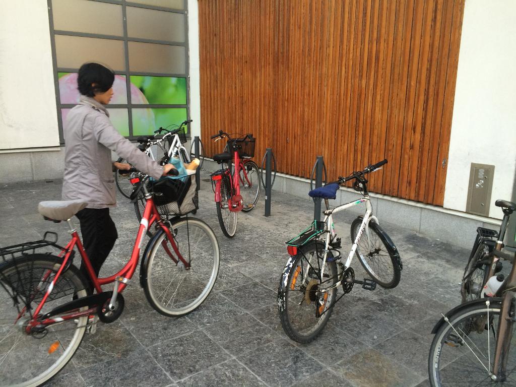 Cykeställ vid Konsum