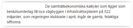 SVT om Trafikverket