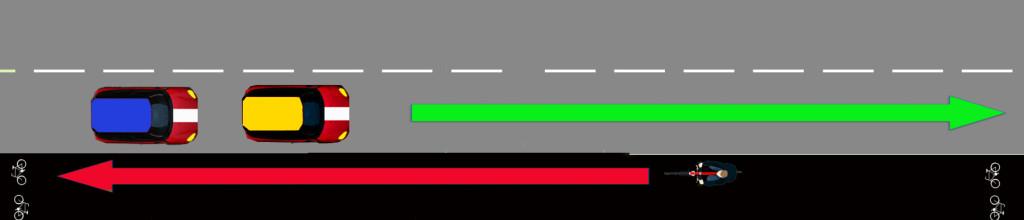 mötande trafik