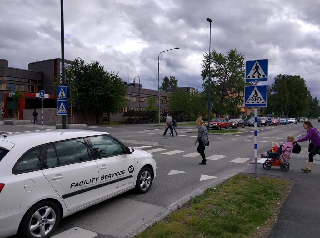Cykelöverfart i Östersund Foto: Johan Oscarsson