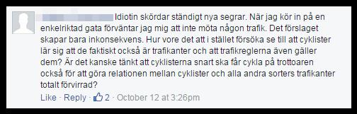 Sur för cyklistprio 1
