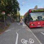 Var lika tydlig med cykelvägarna som med bussvägarna