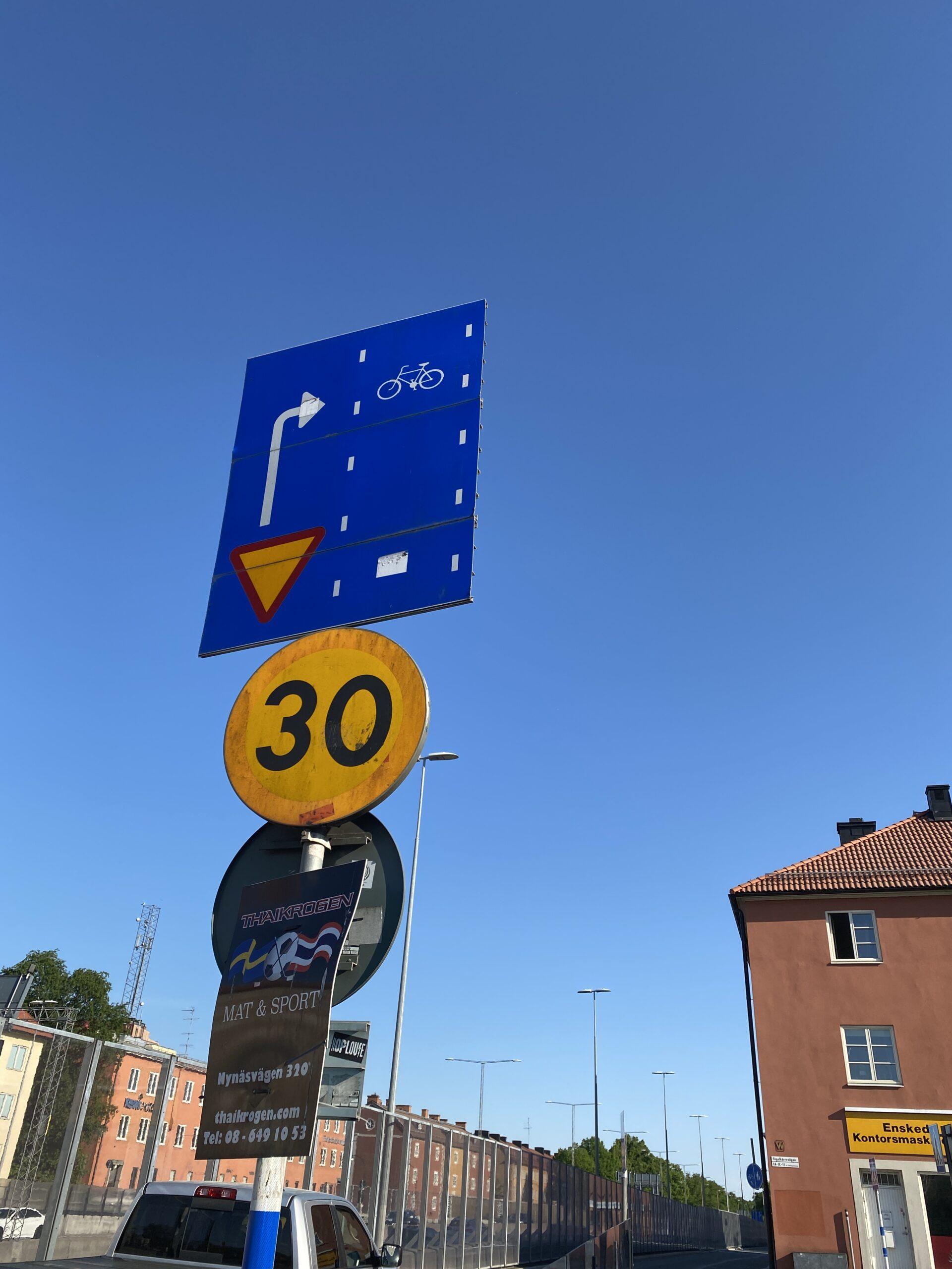 Ny skylt i Stockholm