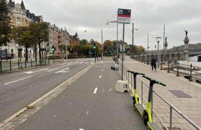 Cykelbanan är en bra hållplats.